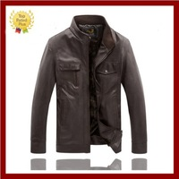 wholesale Middle-aged people Autumn & winter design men's PU leather jacket ,men coat,men clothing,Man motorcycle casual jackets