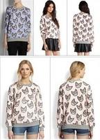On Sale! Autumn New Small Chili Kitty Pattern Hedging Long-sleeved Women Sweatshirt