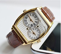 Korea Julius Homme men's Watch two dials new style, Leather Strap, JAH-062, Men's Wrist Watch
