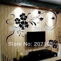 2014 FASHION 250*155 cm Home stickers Wall decor Art Decals Vinyl Murals Applique #309 Flowers plants