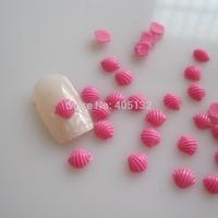 RC-186-6 200pcs/bag Cute Decoration Resin Hot Pink Shell Resin Decoration Nail Art Decorations