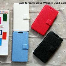 cover case for Intex Aqua Wonder Quad Core case cover flip pu leather