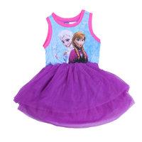 Free Shipping 2014 New Arrival Girls Frozen dress Kids Anna Elsa's Princess dress Baby frozen Printed Dresses Cartoon Clothing
