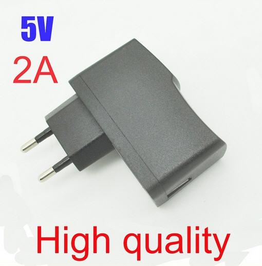 Free Shipping High quality EU Plug EU Version AC 100-240V /DC 5V 2A 2000mA USB Charger Adapter Power Supply Wall Home Office