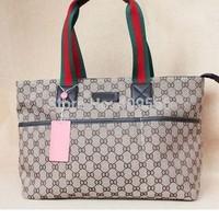 New Arrivel 2014 Classic Fashion Women Handbag Simple Shoulder Bag Large Canvas Bags Famous Brand Bags Free Shipping