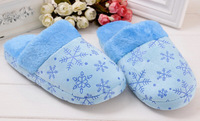 Free Shipping New Avvrial Winter Snow Flake Pattern Indoor Women Warm Soft Slippers