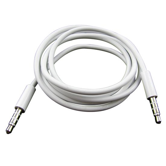Audio Aux Cable 3.5mm port 1M white cable for iphone 4 4S 5 5s For ipod(China (Mainland))