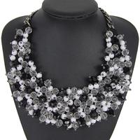 2014 Fashion Women European USA Exaggerate Jewelry Chain Necklaces Bib Statement Necklace Women  NK734