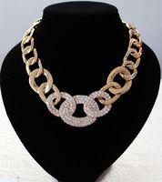2014 new European style wholesale fashion full stone metal  necklace 6 pcs /lot