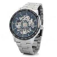 Stainless Steel Self-Winding Mechanical Tachometer Wristwatch