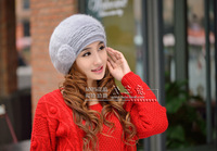 Free shipping  new autumn and winter warm fur hat lady hat knitted hat
