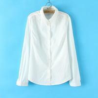 L3095 2014 Hitz women's white lace collar loose long-sleeve shirt woman fall casual shirt
