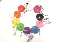 2 m for iphone5 6 6plus color pasta line 2 m 3 m cable data lines for 5c/5S color pasta noodles Color Line