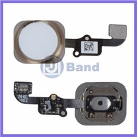 "Home Button Menu Flex Cable+Key Cap Assembly Replacement for Apple iPhone 6 4.7"" Gold Repair Parts Free Shipping"