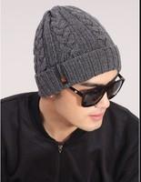 Korean hot men's new classic winter warm wool knit hat outdoor recreation fashion head cap sleeve beanies Free Shipping