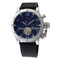 2014 Famous Brand U 1101  Fashion rubber strap Men Automatic Mechanical Self Wind Watch BOAT luxury casual sports Wrist Watch