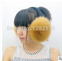 Men and women fashionimulation fox fur earmuffs winter warm fashion foldable earmuffs