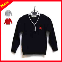 2-7year old Children clothing brand Knit Sweaters Unisex 2 Button Pullovers Sweater for 2-7T cardigans for kids small LOGO