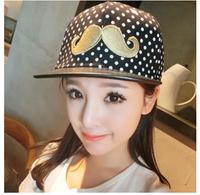 Hat male women's summer polka dot flat along the cap hiphop cap baseball cap hip-hop cap