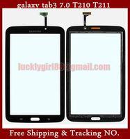 Original New Prestigio Touch Screen Digitizer Glass Touch Panel White&Black wifi version For Samsung Galaxy Tab 3 7.0 T210