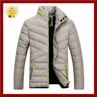 2014 NEW Autumn & winter warm men's down jacket with hood 100% duck down thickening outerwear sports cotton-padded clothes coat