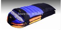 Free shipping.Brand envelope type sleeping bag.camping warm.1000g White duck down.winter.top quality.OEM.