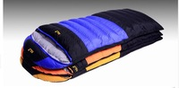 Free shipping.Brand envelope type sleeping bag.camping warm.1000g White duck down.winter.top quality.OEM.