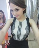 Free gif Used 9912 * Advanced custom lace gauze halter dress with paragraph king yugao