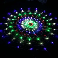 1.5m 144 SMD Peacock Opening Cobwebs Net LED Light Christmas Wedding Party New year Decorations Curtain Background Light