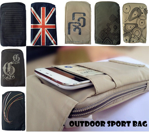 NEW Sports Wallet Mobile Phone Bag Outdoor Army Cover Case For Multi Phone Model Hook Loop Belt Pouch Holster Bag 3 Pocket(China (Mainland))