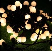 Waterproof 72 SMD LED Christmas String Lights Garden Decoration Window Decoration Cherry 10 m Black Wire Bead Lights
