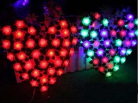 70 Pieces Rose Holiday Lights Christmas Window Decoration Wedding Supplies Birthday Decorations Oversized Love LED String Lights