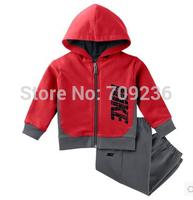 Brand New winter children's clothing suit girl child autumn kids thickening fleece sweatshirt +pants child clothes set