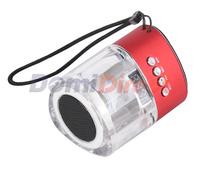 Portable mini Crystal Speaker with FM Radio and TF Card Reader Mini Stereo Speaker
