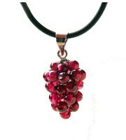 Natural garnet pendant small grape pendant