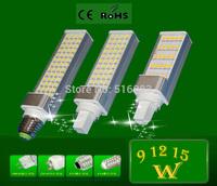 G24 E27 G23 LED Corn light SMD 5050 7W 9W 11W 12W 15W LED Bulb Lamp Flat light Spotlight 180 Degree AC85-265V For Home Decor