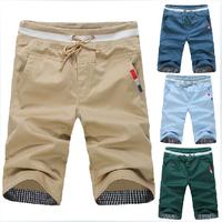 Hot Sale New Summer Mens Shorts Casual Loose Rope Drawstring Men Sport Shorts Bermuda Masculina Pure Color 6 Color Free Shipping