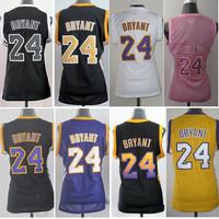 Free Shipping Los Angeles 24 Kobe Bryant Womens Basketball Jerseys,Cheap Embroidery Logo Basketball Jersey Kobe Bryant For Women