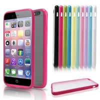 New 2014 Ultra Thin Slim Case for Apple  i Phone 6 4.7inch TPU+PC Cover Transparent Matte Design Fashion Protective Skin