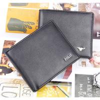 Promotion 100% PU Leather Man Wallet 2014 New Wallet For Men Arrival Brand Design Purse Short Fold Wallets