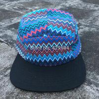 Cheap and high quality wholesale 5 panel snapback cap camp hat custom baseball cap