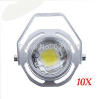 10pcs/lot  10W  LED Eagle Eye Car Fog Waterproof IP67 CREE Daytime Running Backup Brake lights Silver shell  Free shipping