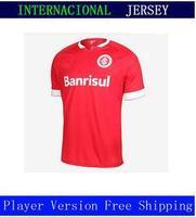 A+++ Club Internacional CAMISA MASCULINA Sport  2014 Home New 2015 Thai Soccer Jersey Camisetas De Futbol Uniform