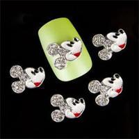 100 % Brand New Korean Style  Nail Art Stickers 10xpcs 3D Recreational Jewelry Glitter rhinestone Alloy Decals Decoration