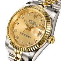 HOLUNS luxury brand gold men full steel watch men mechanical hand wind self-wind watch business designer dress men wristwatches