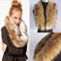 Lady Faux Fur Wrap Free Shipping Women Faux Fur Wrap Fashion women Fur Ring winter Scarves Warm Fur Collar Paisley Style Coat