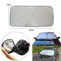 2 pcs New Foldable Auto Front Rear Window Sun Shade Car Windshield Visor Cover Block
