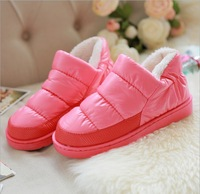 2014 Fashion Women Winter Warm Shoes Fleece Suede Cotton-padded Thicken Shoes For Men And Women 6 Colors Free Shipping
