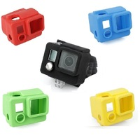 New Protective Silicone Case For Gopro Hero 2 Camera Proection Silicon Housing box for Go pro Hero 2 5 colors Free Shipping