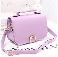 2014 new fashion vintage girls messenger bag PU leather candy colored handbag hasp zipper for women shoulder bag brand designer
